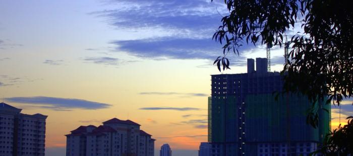 Malaysia - Blick aus dem Fenster abends2