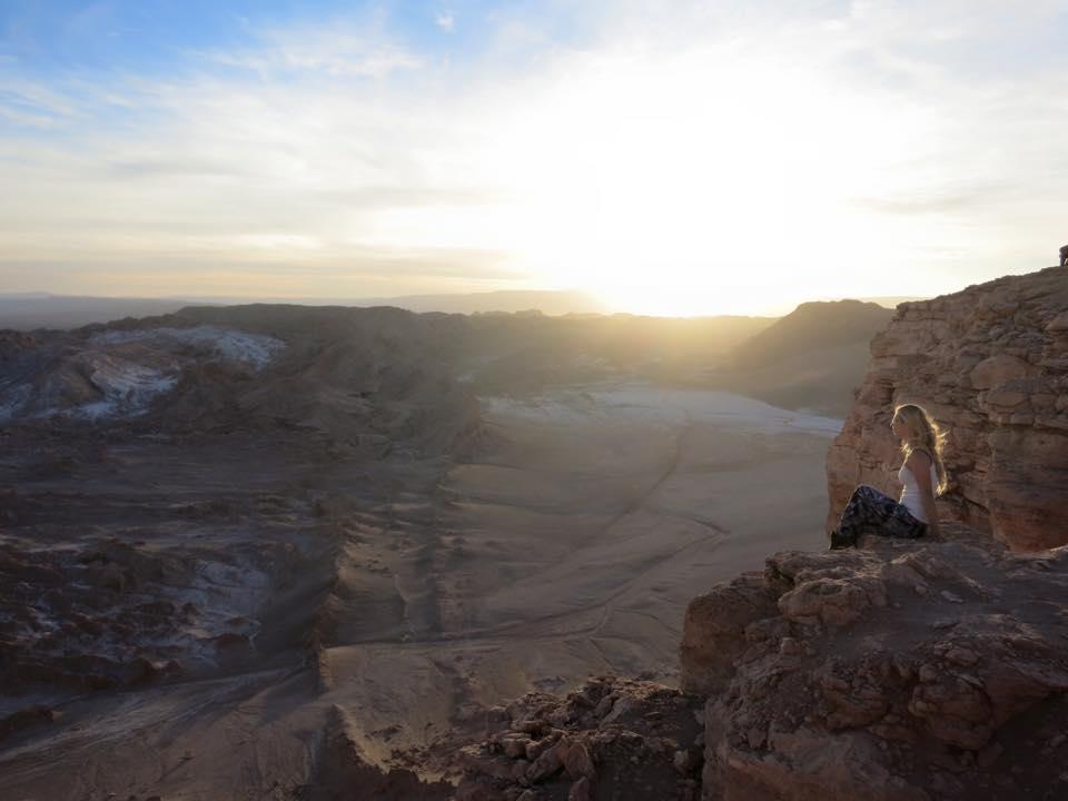 Barbara über der Atacamawüste