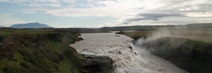 Gullfoss goldener Wasserfall Island 2