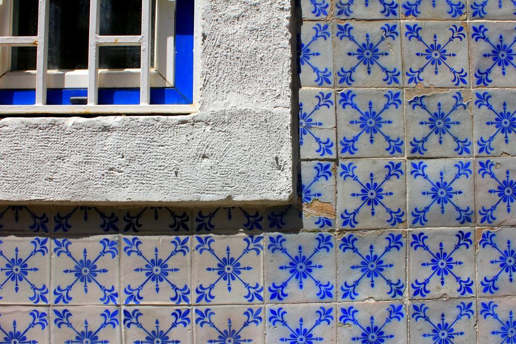 Lissabon blaue Kacheln