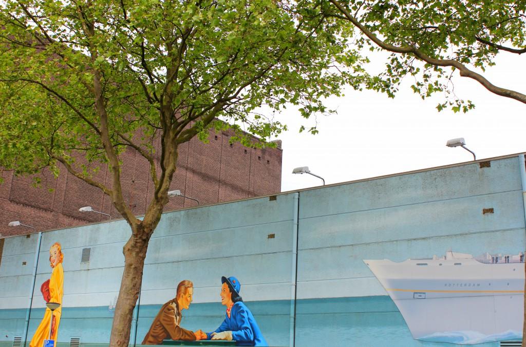 Rotterdam Graffitti Auswanderer