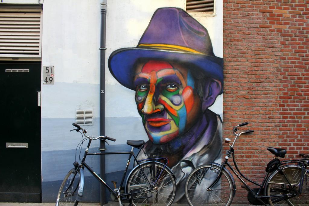 Rotterdam Streeart und Fahrräder