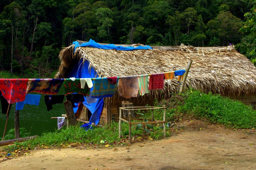 Malaysia Belum - Hütte Orang Asli