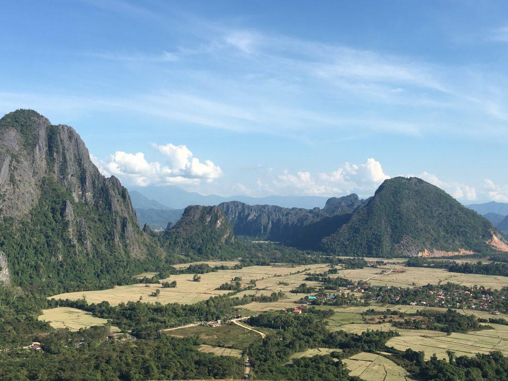 Flipside Aussichtspunkt in Vang Vieng Laos