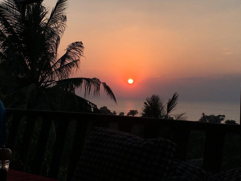 Flipside Sonnenuntergang Kambodscha