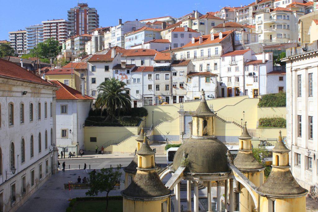 Coimbra Blick über die Stadt