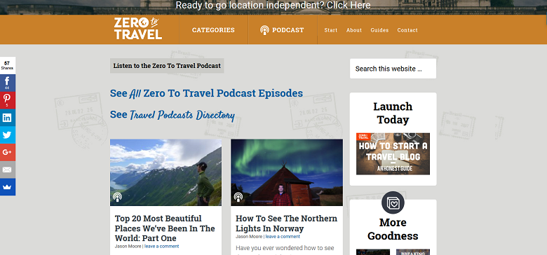 Zero To Travel_Screenshot_Podcast