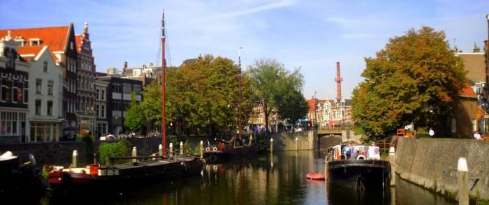 Boote im Delfshaven Rotterdam