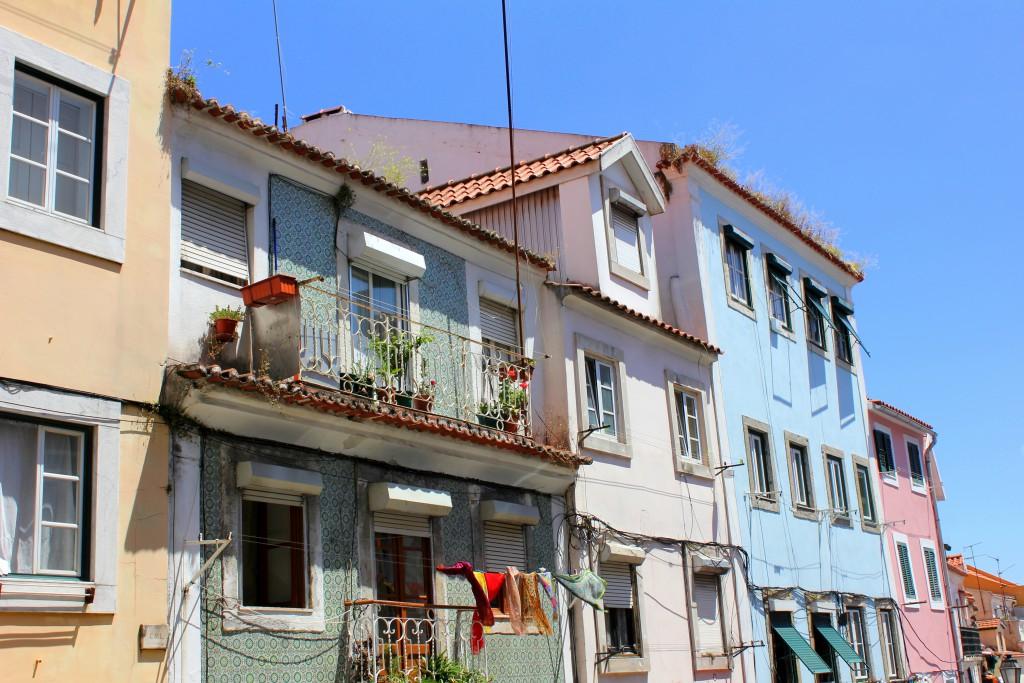 Lissabon bunte Häuser