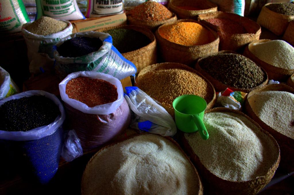 Reis und Gewürze