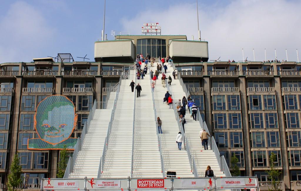 Rotterdam Treppe Bahnhof