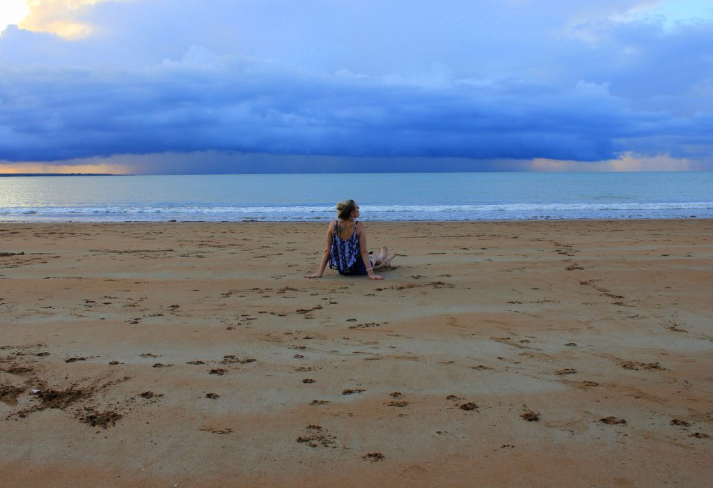 Leerer Strand Darwin