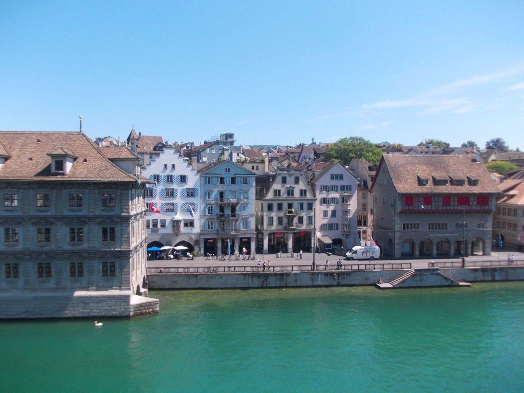 Schweiz Zürich Ausblick Storchen