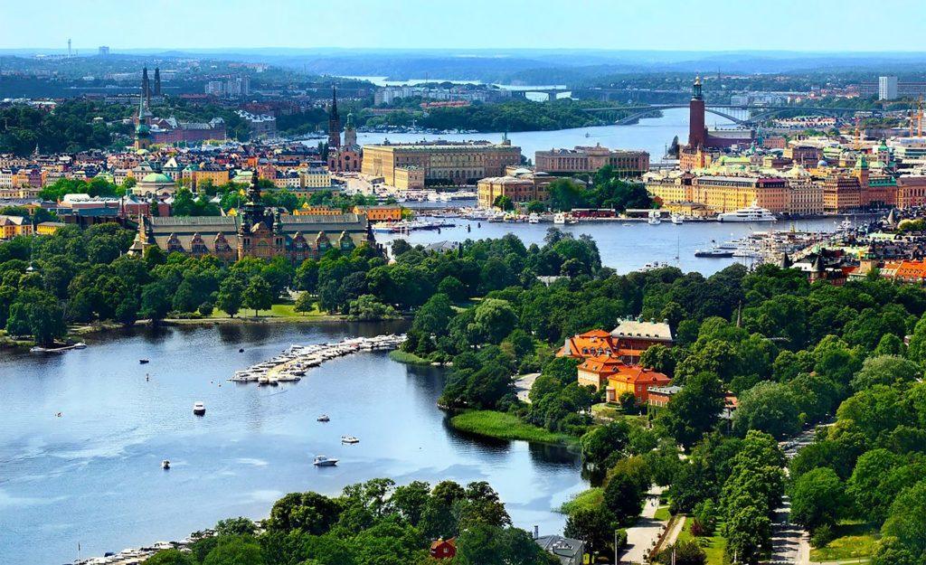 Aussicht auf Stockholm in Schweden